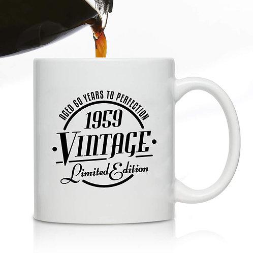 1959 Vintage Edition 60th Birthday Coffee Mug for Men and Women 60th Anniversary