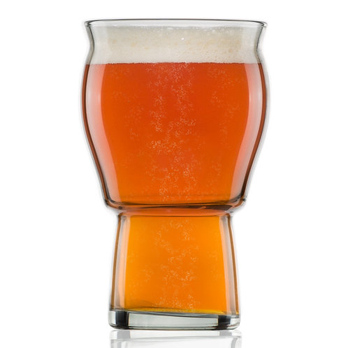 Nucleated Beer Pint Glass- A Beer Glass - 16 oz Craft Beer Glass