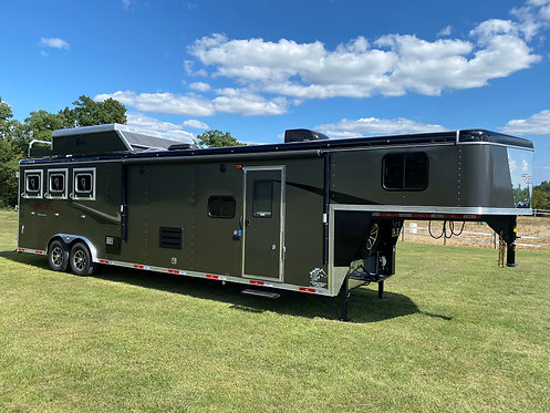 NEW 2021 Bison Ricochet 3 Horse 13' LQ Slide This unit is SOLD Another on order