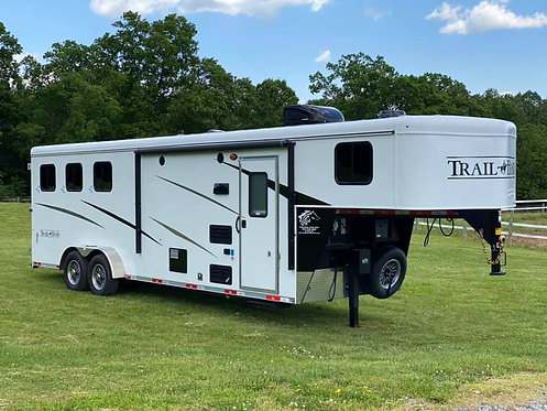 NEW 2020 Bison Trail Hand 3 Horse 9' Living Quarters 7' Wide Stock # 9389