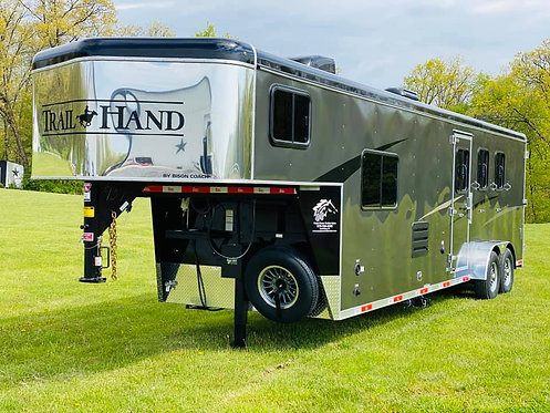 NEW 2020 Bison Trail Hand 3 Horse 11' Living Quarters 7' Wide Stock # 9373
