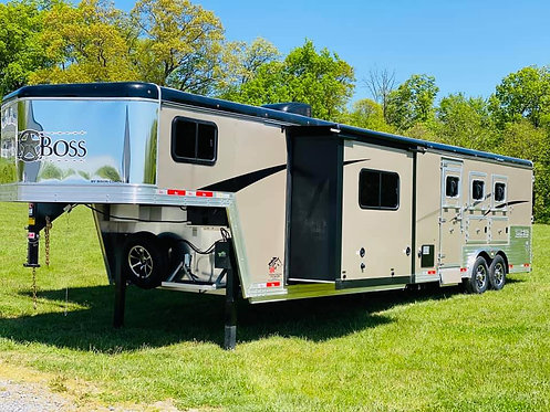 NEW 2020 Bison Trail Boss 3 horse 15' Living Quarters 8' Wide Stock # 9375