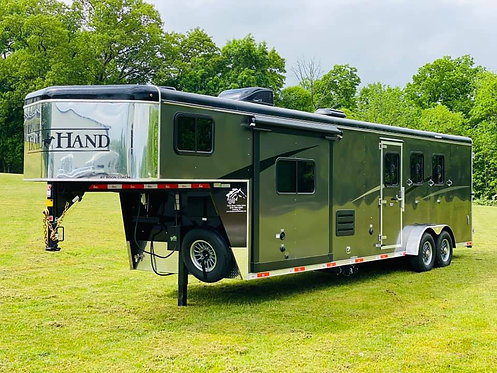 NEW 2020 Bison Trail Hand 3 Horse 11' Living Quarters 7' Wide Stock #9381