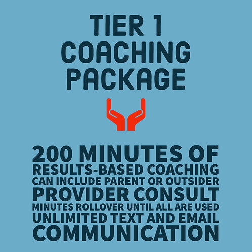 Tier 1 Coaching Package