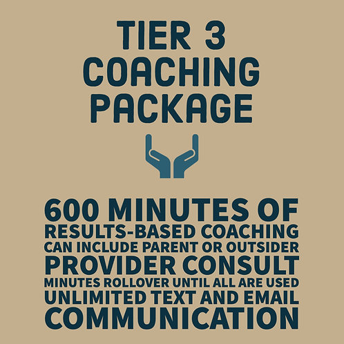 Tier 3 Coaching Package