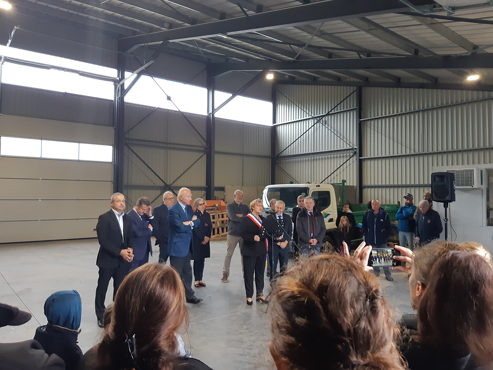 Brice Hortefeux inaugure un bâtiment IRISOLARIS