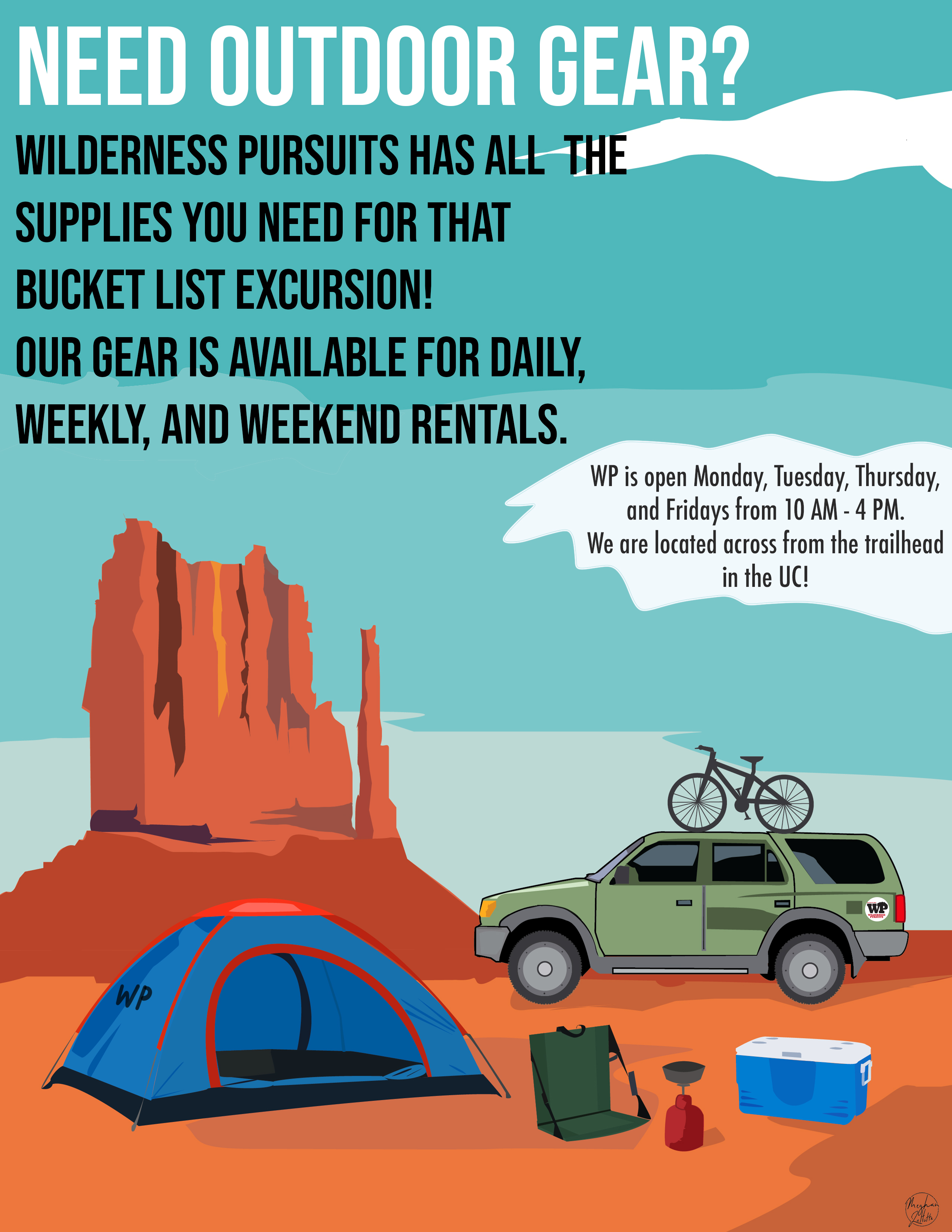 Rental Informational Poster