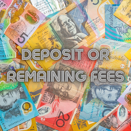 Deposit & Remaining Balance Fees
