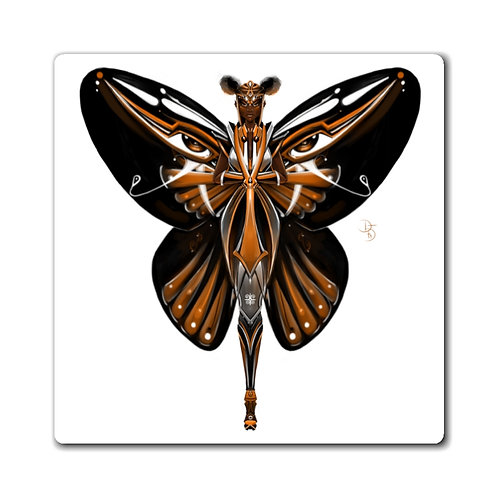 Oh My Black Monarch Butterfly Magnets