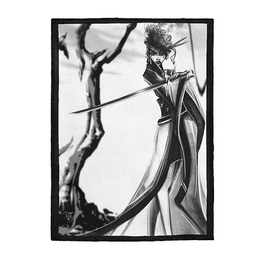 B&W Revenge Velveteen Plush Blanket