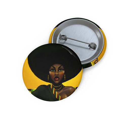 Afro Pin Buttons