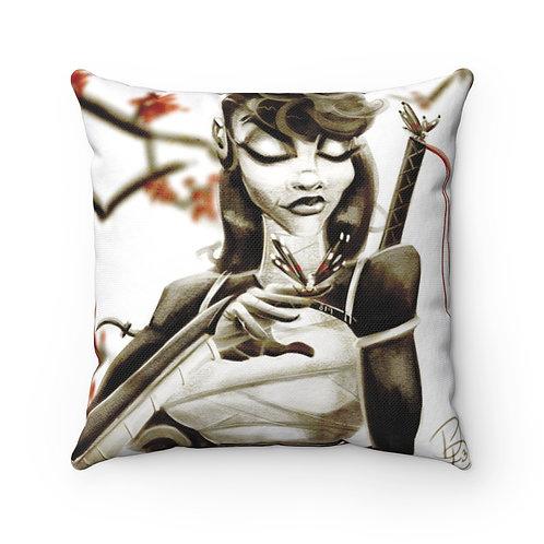 Ninja Peace Spun Polyester Square Pillow