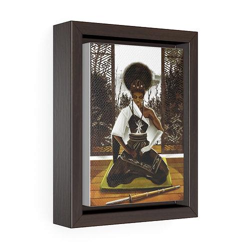Be Still v1 Vertical Framed Premium Gallery Wrap Canvas