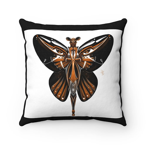 Oh My Black Monarch Butterfly Spun Polyester Square Pillow Case