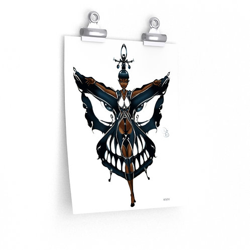 Oh My Black Butterfly Premium Matte vertical posters