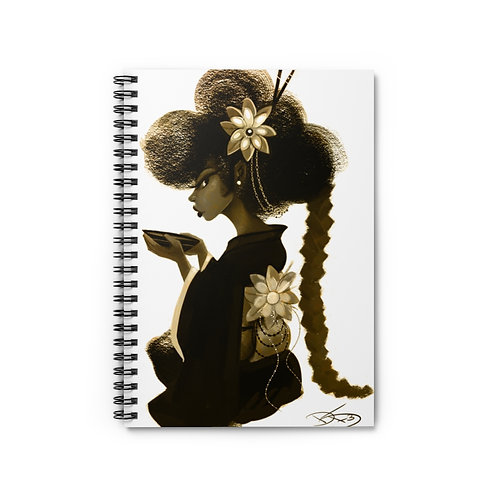 Unbothered  -Spiral Notebook - Ruled Line