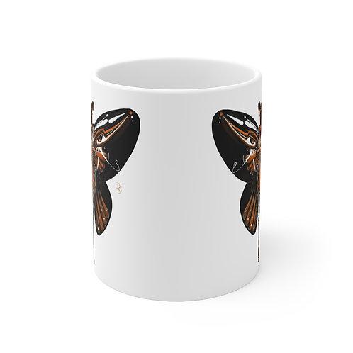Oh My Black Monarch Butterfly Mug 11oz
