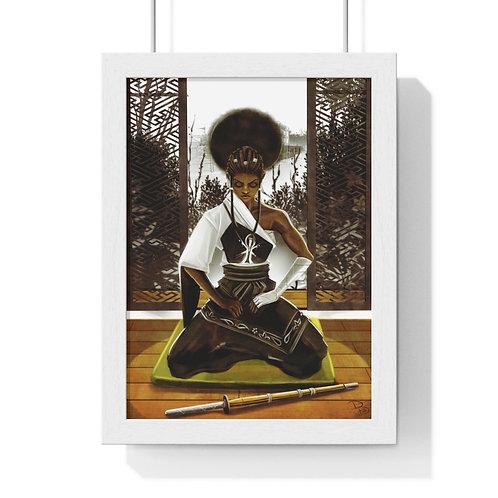 Be Still v1 Premium Framed Vertical Poster
