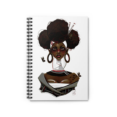 Natively Red Spiral Notebook - Ruled Line