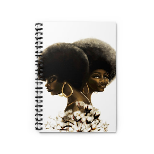 My Cotton Afro -Spiral Notebook - Ruled Line