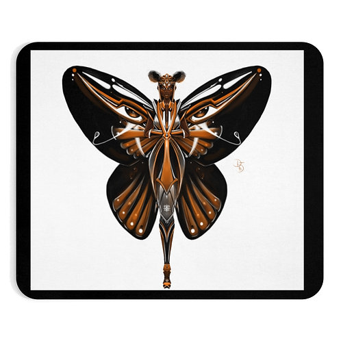 Oh My Black Monarch Butterfly Mousepad