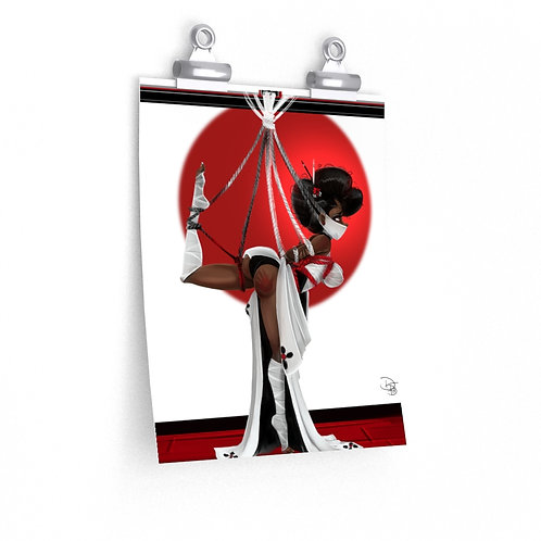 Shibari Me (red-eyes open)  Premium Matte vertical posters
