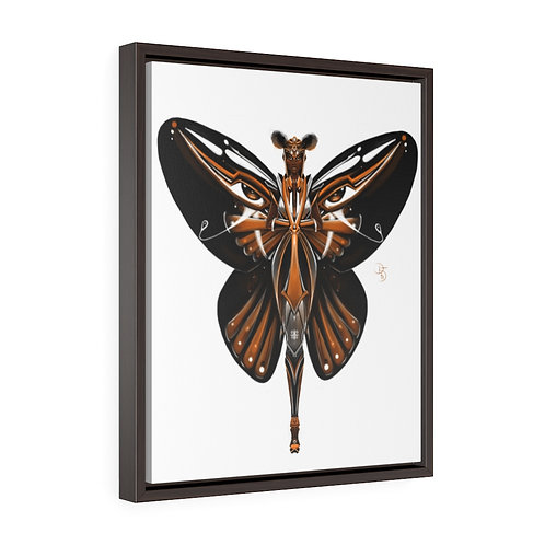 Oh My Monarch Butterfly Vertical Framed Premium Gallery Wrap Canvas