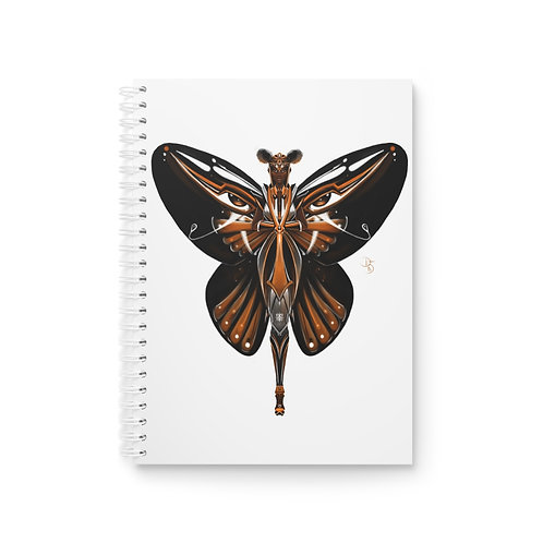 Oh My Black Monarch Butterfly Spiral Notebook