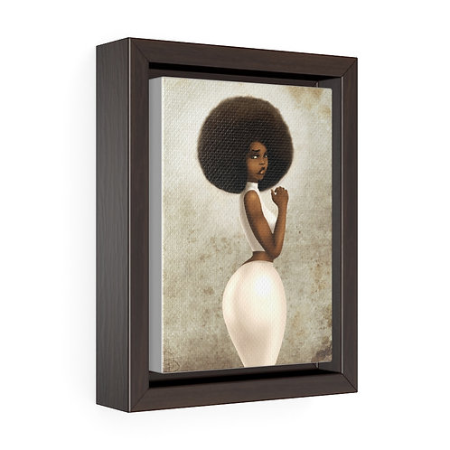 Chocolate Vertical Framed Premium Gallery Wrap Canvas