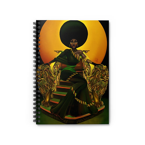 Penny afro-sheen -Spiral Notebook - Ruled Line