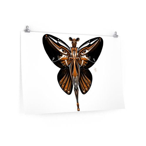 Oh My Black Monarch Butterfly Posters