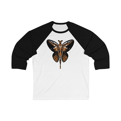 Oh My Monarch Butterfly Unisex 3/4 Sleeve Baseball Tee