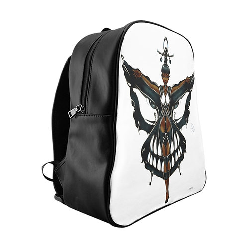 Oh My Black Butterfly School Backpack