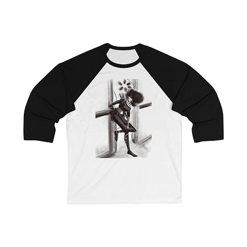 Black Lung 2 Unisex 3/4 Sleeve Baseball Tee