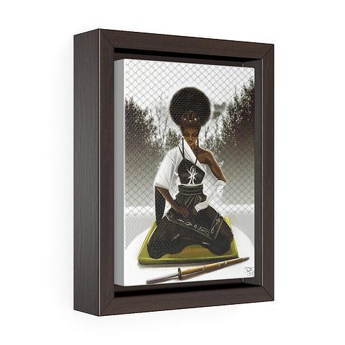Be Still v2 Vertical Framed Premium Gallery Wrap Canvas