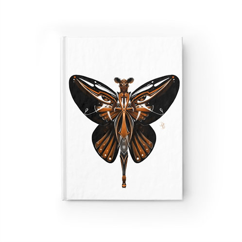 Oh My Black Monarch Butterfly Journal - Ruled Line