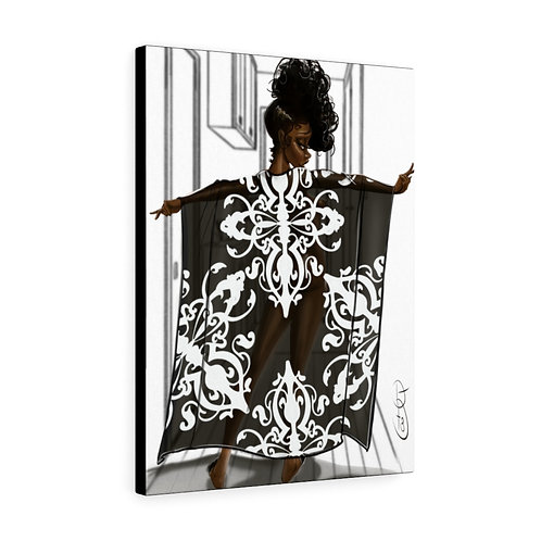 Penny in her kaftan Canvas Gallery Wraps