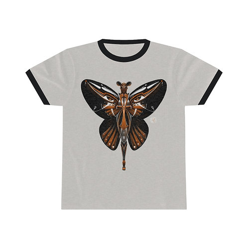 Oh My Black Butterfly  Unisex Ringer Tee