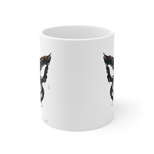 Oh My Black Butterfly Mug 11oz
