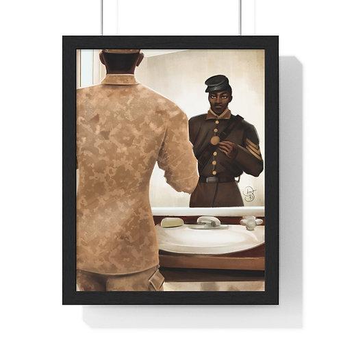 Salute 2 Veterans Day Premium Framed Vertical Poster