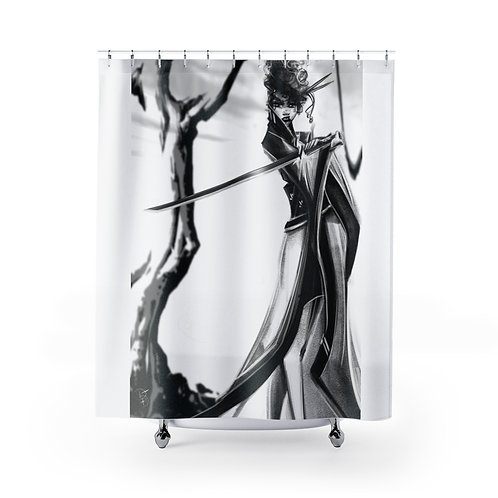 B&W Revenge Shower Curtain