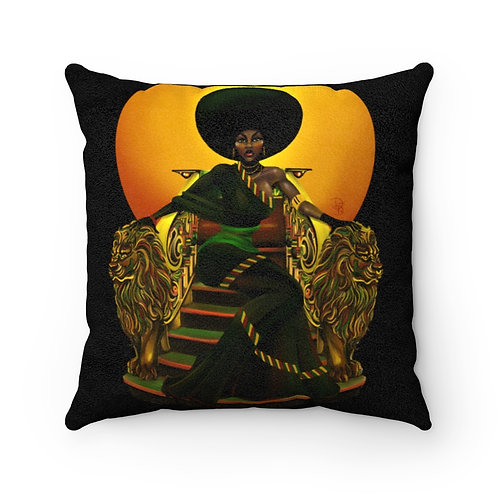 Penny afro Faux Suede Square Pillow Case