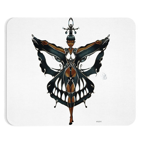 Oh My Black Butterfly Mousepad