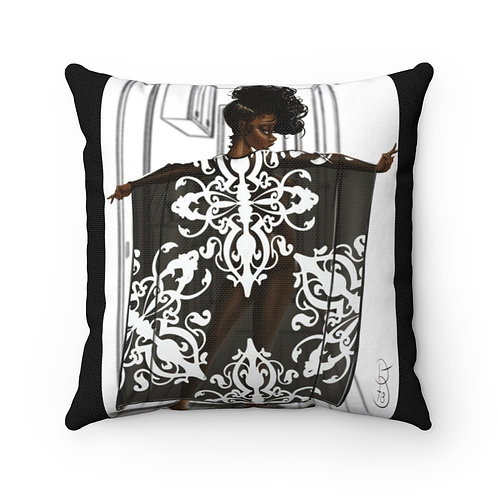 Penny in her kaftan Spun Polyester Square Pillow Case