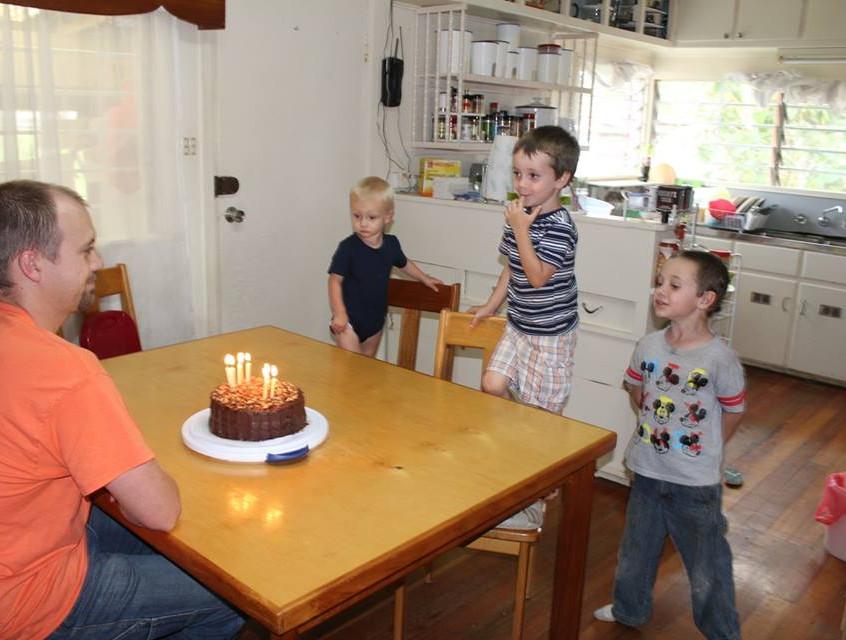 "Singing ""Happy Birthday"" to Daddy"