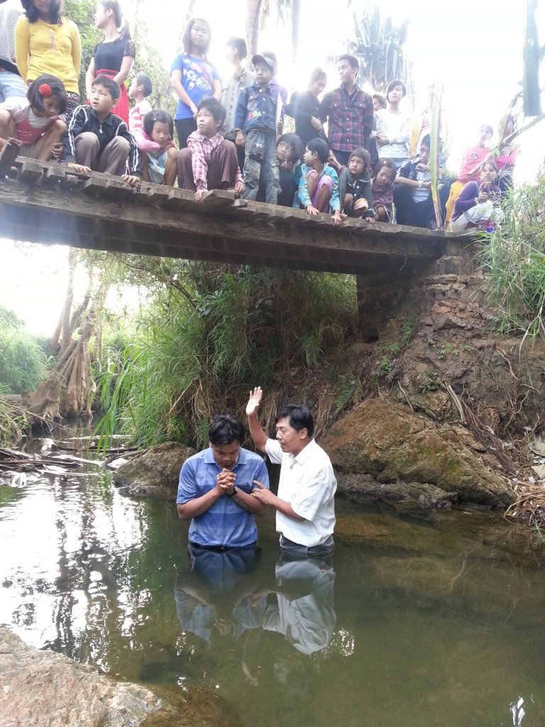 Gospel Camp during Water Festival from 12-17 April 2013- 9 new converts water ba
