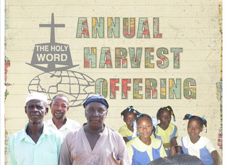 Annual Harvest Offering: Giving Hope to the Lost