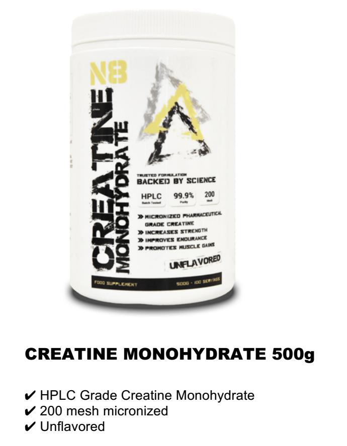 CREATINE MONOHYDRATE 500g RM60