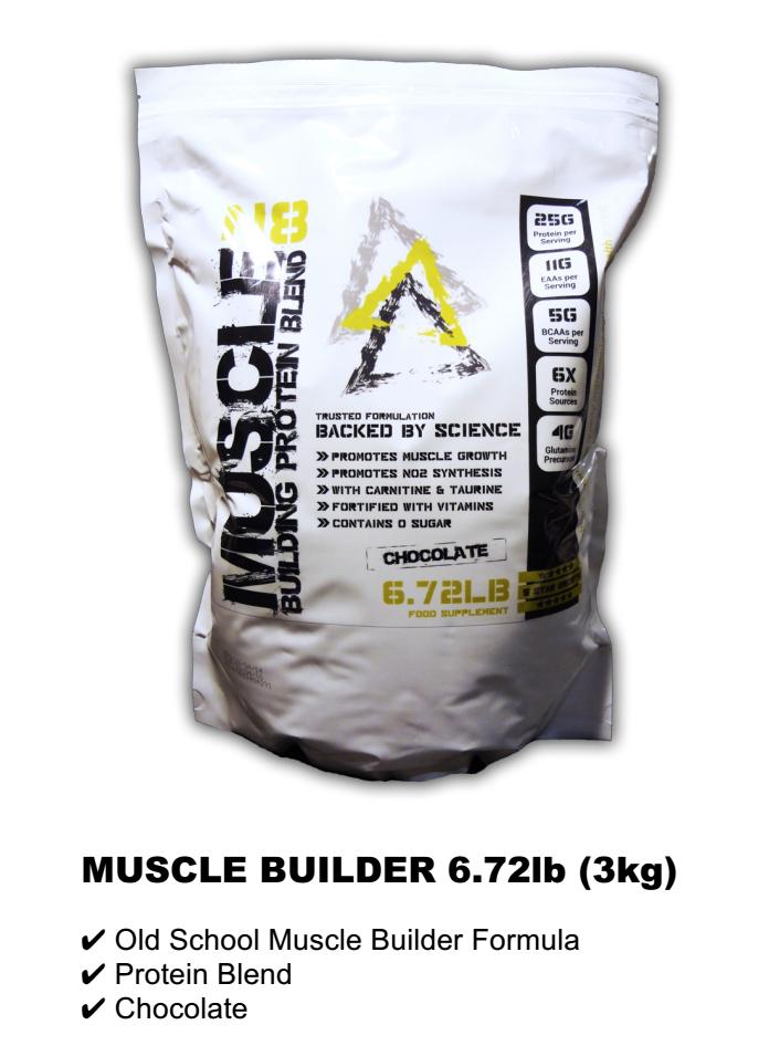 MUSCLE BUILDER 6.72lb (3kg) RM225