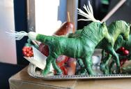 """""""Scallion Stallions"""" Fake Food Art"""